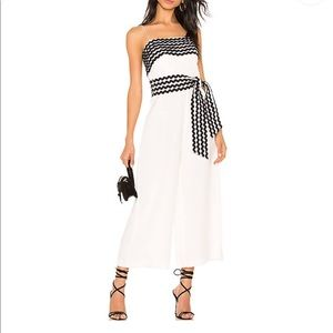 CMEO Collective White Jumpsuit with Black Detail